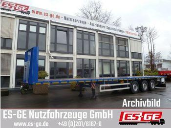 Flatbed semi-trailer ES-GE 3-Achs-Sattelanhänger - Rungen - CV