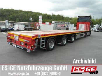 Faymonville 3-Achs-Megatrailer - teleskopierbar  - flatbed semi-trailer