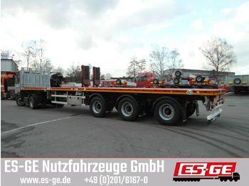 Flatbed semi-trailer Faymonville MAX Trailer 3-Achs-Teleauflieger - hydr. gelenkt