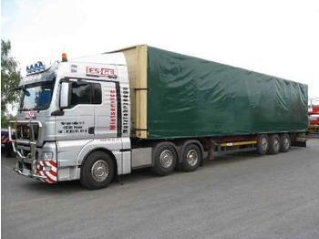 Knapen 3-Achs-Sattelanhänger - Schiebebügelaufbau - flatbed semi-trailer
