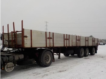 LAG STEEL SUSPENSION / WITH ALU SIDE BORDS - flatbed semi-trailer