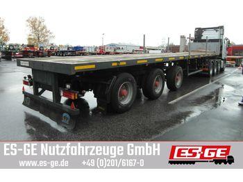Flatbed semi-trailer Nooteboom 3-Achs-Teleauflieger - hydr. gelenkt