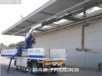 Pacton Kennis 16.000-R/84 Crane CL-1320-1-GB - flatbed semi-trailer