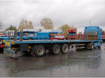 SDC 3-Achs-Sattelauflieger - teleskopierbar - flatbed semi-trailer
