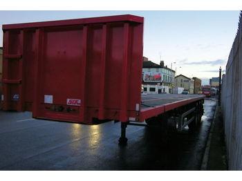 SDC Holzauflieger NEU 3 Achse ausziehbar bis 18m - flatbed semi-trailer