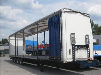 Setra/Kaessbohrer 3-Achs-Sattelanhänger - Unfallfahrzeug - flatbed semi-trailer