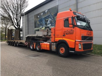 Nicolas Lowbed 79500 KG, Truck (2007)  FH16 580 6x4, Retarder, Standairco, Adjustable Dish (3.5) Inch / Duim, Airco, Hub reduction,Combi - low loader semi-trailer