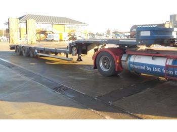 2006 Noteboom Tri Axle Step Frame Low Loader Trailer, Hydraulic Flip Toe Ramps - low loader semi-trailer