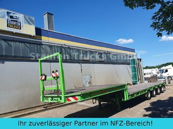 Broshuis 4-Achs SEMI Tieflader extendable 58 to  - low loader semi-trailer