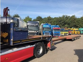 Broshuis STZ-4AX 3AS GESTUURD+WIELKUILEN  - low loader semi-trailer