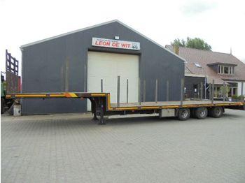 DRACO 3-as semie dieplader, Heavy duty, Twistlocks, rongen - low loader semi-trailer