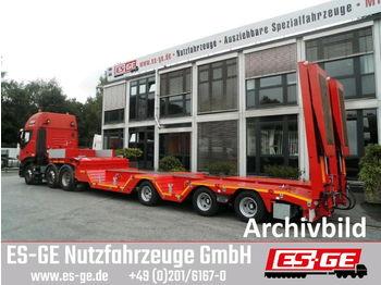 Low loader semi-trailer ES-GE 3-Achs-Satteltieflader mit Radmulden