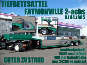 FAYMONVILLE TIEFBETTSATTEL 5,50 m tiefbett 40 cm - low loader semi-trailer