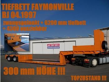 FAYMONVILLE TIEFBETT 6200 mm zwangsgelenkt AZB - low loader semi-trailer