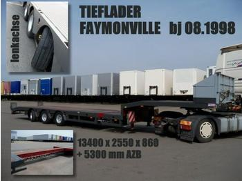 FAYMONVILLE TIELADER AZB 5 m / lenkachse 860 mm - low loader semi-trailer