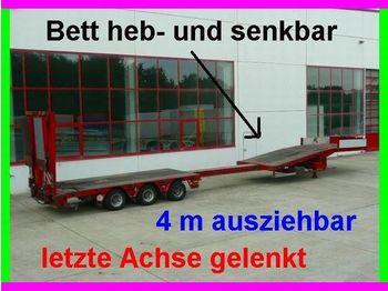 Faymonville (B) 3 Achs Tieflader, heb und senkbares Bett - low loader semi-trailer