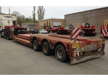 عربة مسطحة منخفضة نصف مقطورة Faymonville Tiefbett / abnehmbaren Schwanenhals