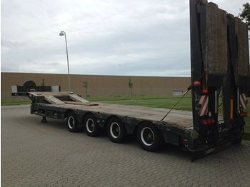 Faymonville Tieflader mit hydraulic steering  - low loader semi-trailer