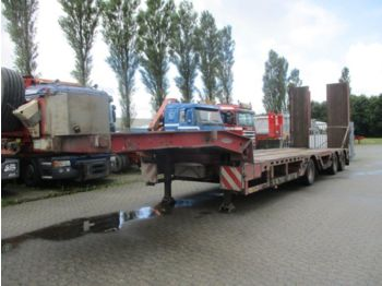 عربة مسطحة منخفضة نصف مقطورة Faymonville Tieflader radmulden