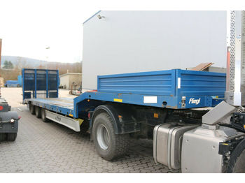 Fliegl 1.Hd + elektr. Rampe + 8 t.Winde + nur 80Tkm 1Hd  - low loader semi-trailer