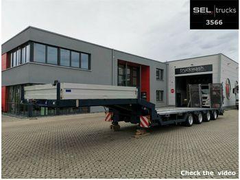 Fliegl SVS 370T / 0,80 m Ladeh./hydr. Rampen/ Radmulden  - low loader semi-trailer