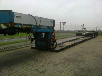 عربة مسطحة منخفضة نصف مقطورة Goldhofer Tiefbett ausziehbar + hydr. lenkung
