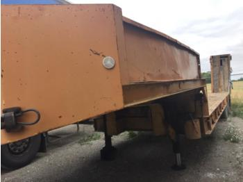 KAISER 2 ESSIEUX - low loader semi-trailer