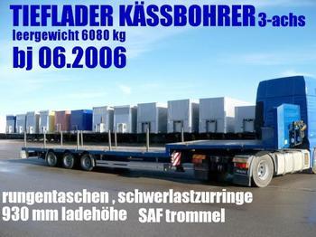 Kässbohrer JB / JUMBO TIEFLADER PLATTFORM rungen/ 4 to.zurr - low loader semi-trailer