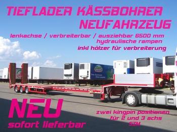Kässbohrer LB3E / verbreiterbar /lenkachse / 6,5 m AZB - low loader semi-trailer