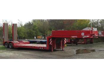 Langendorf 2-Achs-Tiefbett - low loader semi-trailer