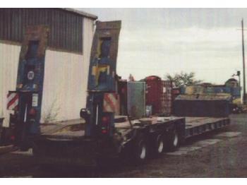 Langendorf 3-Achs-Tiefbett - hydr. zwangsgelenkt - low loader semi-trailer