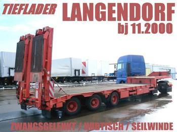 Langendorf TIEFLADER ZWANGSGELENKT HUBTISCH FÜR STAPLER - low loader semi-trailer