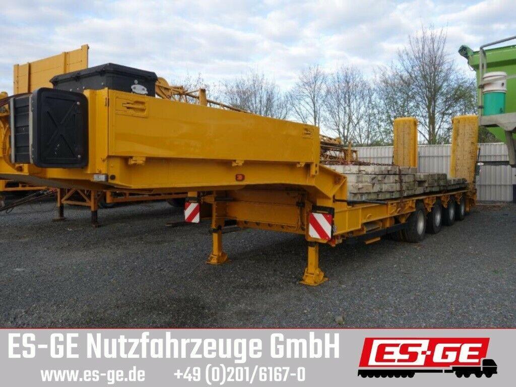 low loader semi-trailer Müller-Mitteltal 4-Achs-Satteltieflader - 2tlg. Rampen