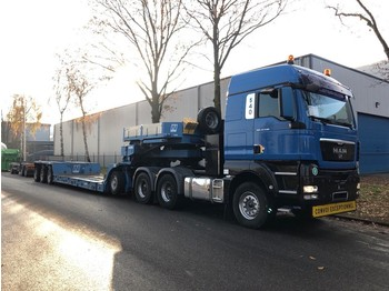 Nicolas Lowbed 76000 KG, 2,50 mtr Extendable, 3,5 inch/Duim kingpin, MAN,  TGX 33 540, Year 2010 Lowbed, B 2,74, Combi - low loader semi-trailer