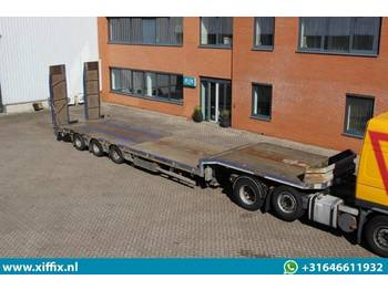 Low loader semi-trailer Nooteboom 3-ass. Semi dieplader met hydr. Kleppen // Naloop gestuurd