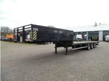 Low loader semi-trailer SDC 3-axle semi-lowbed container trailer