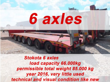 Low loader semi-trailer STOKOTA 6 AXLE SEMI TRAILER LOW LOADER S6U.H4.N1-01