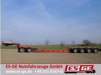 Low loader semi-trailer Scheuerle 2+4-Achs-Kombination - Baggerbett
