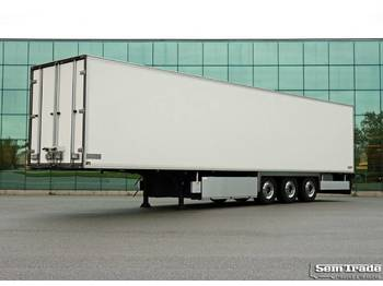 Chereau CSD3 3 AXLE FRIGO DOUBLE DOORS TOP CONDITION FULL CHASSIS - refrigerator semi-trailer