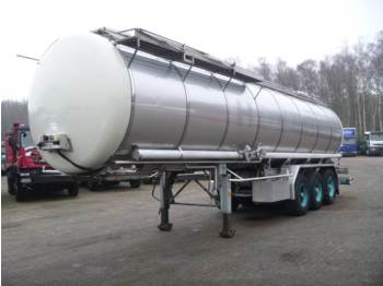 Burg Chemical tank inox 31.2 m3 / 1 comp. - tank semi-trailer