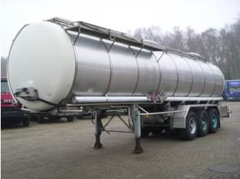 Burg Chemical tank inox 31.2 m3 / 1 comp - tank semi-trailer