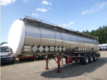 Tank semi-trailer Burg Chemical tank inox 46 m3 / 4 comp