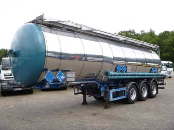 Feldbinder Chemical tank inox 37 m3 / 3 comp - tank semi-trailer