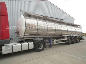 Kässbohrer STB / STC 2 / 35.000 Liter / EDELSTAHL Chassis  - tank semi-trailer