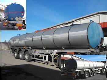 *MENCI-SAFA* BITUM/BITUMEN/MASUT TRANSPORT ISOLIATION      250*C      34.350 LTR ALL HOT OIL PRODUCTS TILL 250*C ABS+ADR+ROR+ALLUMINIUM WHEELS+LIFT AXLE(!!!) 2 x ROOMS/COMPARTMENTS - tank semi-trailer