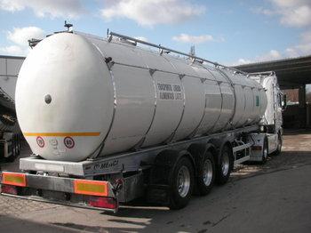 MENCI Santi 3 Kammer Isoliert - tank semi-trailer