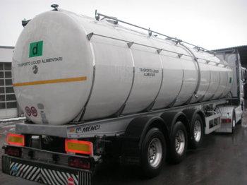 Menci Santi 3 Kammer Isoliert 31.000L - tank semi-trailer