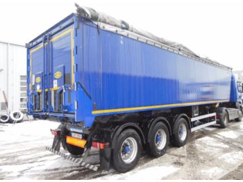 Tipper semi-trailer Meiller MHKS 41/3, 49m3, 2 X LIFTACHSE