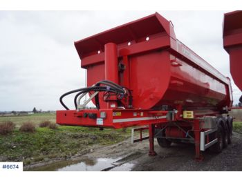 Istrail 3 axle tipper trailer with sliding shafts - tipper semi-trailer
