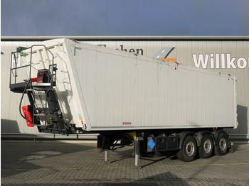 Tipper semi-trailer Kempf SKM 39/3AK, 55m³ Alu, 7mm Boden, Luft/Lift,Plane